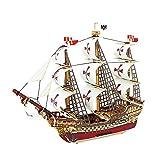3d hölzernes Puzzle DIY hölzernes Segelboot-Modell Bausätze Versammlungs-Schiffsmodell klassische hölzerne für Kind erwachsenen Geburtstags-Abschluss-Weihnachtsgeschenk, Santa Maria