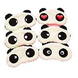 Freessom 2pcs Masque de Sommeil Masque des Yeux Mignon Fantaisie Motif Panda Peluche Original Occultant Doux Relaxation Opaque Masques de Nuit Cache Yeux pour Dormir pour Voyage ou Lors des Siestes l'après-midi Cadeau Pas Cher --Coloris Aleatoire