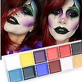Yogogo 12 Couleurs De L'Huile Peinte Du Corps Drame Clown Halloween Maquillage De La Couleur Du Visage
