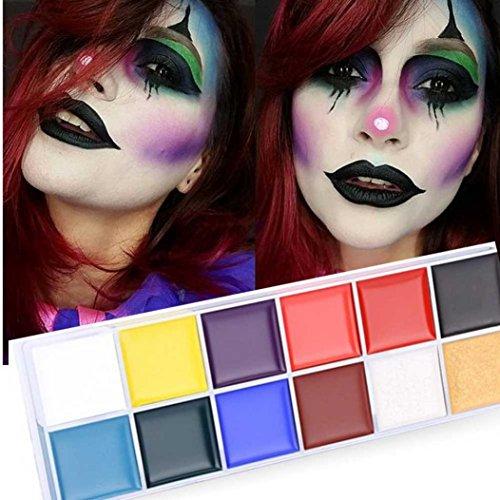 Yogogo 12 Couleurs De LHuile Peinte Du Corps Drame Clown Halloween Maquillage De La Couleur Du Visage