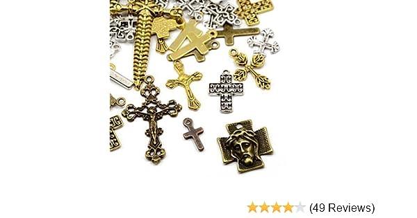 Antique Silver CROSSES HA06675 30g Tibetan Silver Mixed Beads Charms Pendants