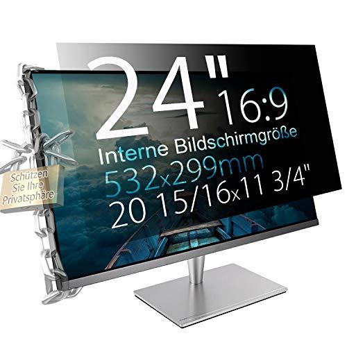 "Xianan 24\"" (16:9) Blickschutzfolie für Breitbild Monitor - 20,94x11,77\"" / 532x299mm Sichtschutzfolie Privacy Filter Displayfilter PC Blickschutzfilter"