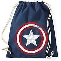 TRVPPY - Bolsa de deporte de algodón, diseño vintage de Capitán América Mochila, bolsa de yute, bolsa de deporte, bolso moderno hipster