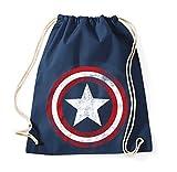 TRVPPY Baumwoll Turnbeutel/Modell Vintage Captain America/Beutel Rucksack Jutebeutel Sportbeutel...