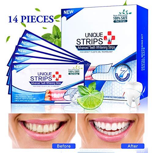 Zahnaufhellung, Teeth Whitening Strips, 28 White Stripes mit Advanced No Slip Technology Teeth Whitening Professionelles Bleaching für Weiße Zähne Zahnweiss