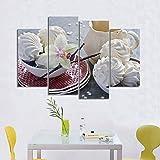 Wandkunst Leinwand Gemälde 4 Stücke Protein Zucker Bilder Blume Druckt Heimtextilien Poster Für Wohnzimmer Modular d-M