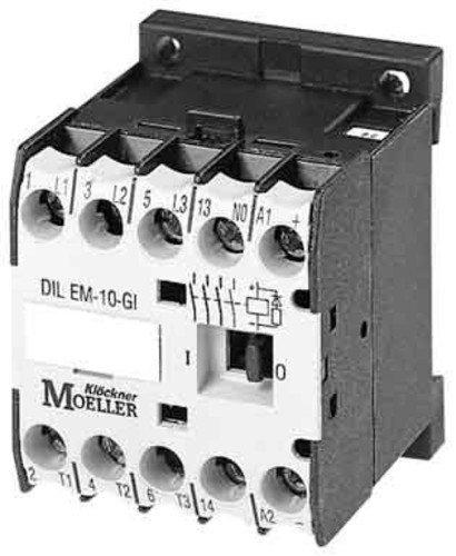 Eaton 010213 Leistungsschütz, 3-polig + 1 Schließer, 4 kW/400 V/AC3, DC-Betätigt -