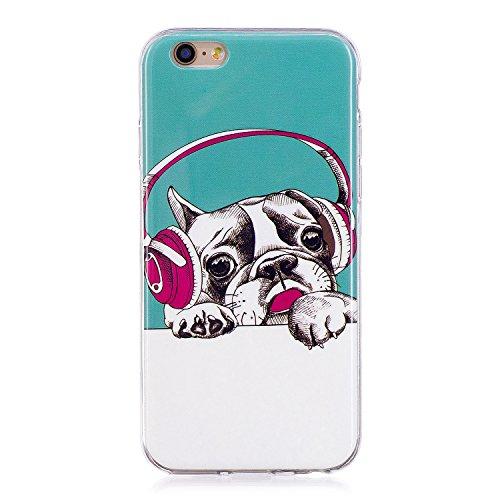Custodia iPhone 6 / iPhone 6s Cover Silicone , YIGA Unicorno Blu Moda Nottilucenti Luminoso Trasparente Silicone Morbido TPU Case Custodia per Apple iPhone 6 / iPhone 6s (4.7) YG-XS82