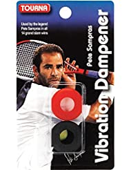 Tourna Tennis Racquet Sampras Vibration Dampener 2 Pack Shock Absorber VIB