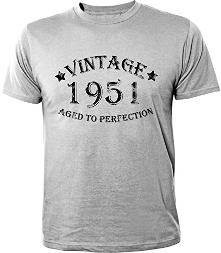 Mister Merchandise T-Shirt Vintage 1951 Aged To Perfection Jahre Geburtstag Years - Camiseta para Hombre S-XXL - Muchos Colores