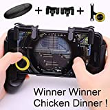 Alician Gamepad for Knives Out PUBG Mobile Phone Shoot Game Controller L1R1 Shooter Trigger Fire Button 3 in 1 for iOS Android