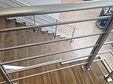 Geländerset aus Aluminium PAB 80 (Aluminiumoxid)