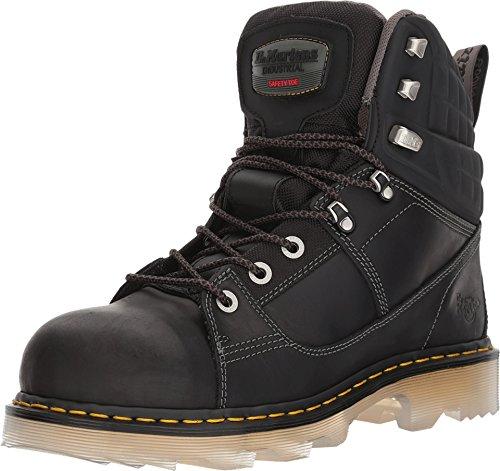 Dr. Martens Women's Camber ST 8 Tie Boots, Black, 3 M UK, 5 M US Dr Martens Black Steel Toe Boots