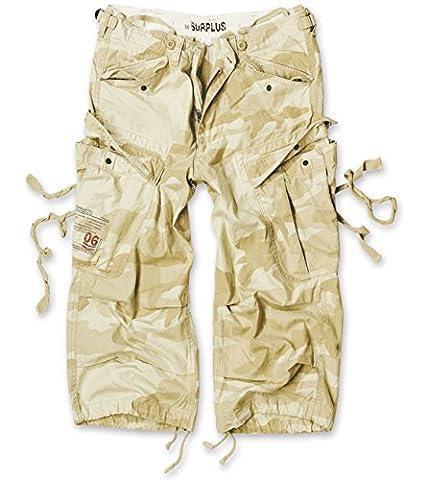 Surplus Homme shorts ENGINEER VINTAGE 3/4 , Size XL, Color desertstorm