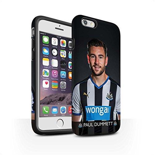Offiziell Newcastle United FC Hülle / Matte Harten Stoßfest Case für Apple iPhone 6 / Pack 25pcs Muster / NUFC Fussballspieler 15/16 Kollektion Dummett