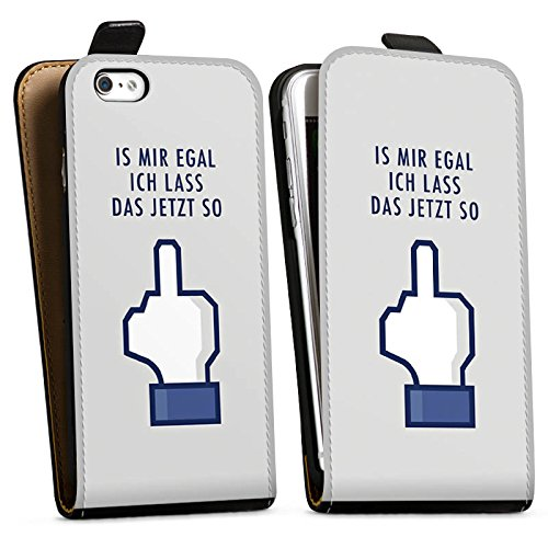 Apple iPhone X Silikon Hülle Case Schutzhülle Like Egal Statements Downflip Tasche schwarz