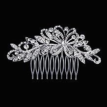 Txian - Forcina per decorare i capelli con farfalle di strass in cristallo per  spose o 464c99c4a46c