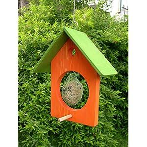 Futterhaus Meisenfutter Meisenknödel Haus orange