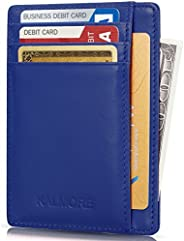 Kalmore Credit Card Holder Genuine Leather Slim & Thin Pocket Wallet Minimalist Wallet Money Clip RFID Blo