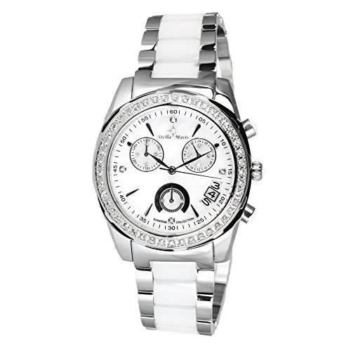 Stella Maris - STM15L1 - wrist watch for women - quartz movement analog display - white dial - white ceramic bracelet