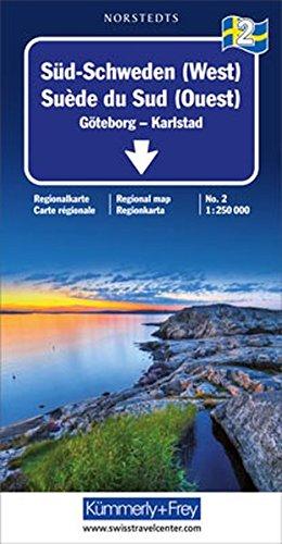 Kümmerly & Frey Karten, Süd-Schweden (West) (Kümmerly+Frey Reisekarten) (Landkarte Schweden)