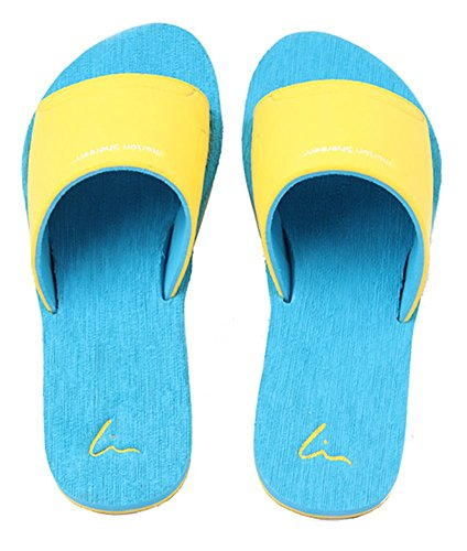 Slip On pantofole antiscivolo doccia sandali House Mule Think schiume sole piscina da spiaggia o da bagno scorrevole per adulti Blue