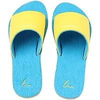 Slip On Pantofole Doccia Antiscivolo Sandali House Mule Think Schiume suola scarpe da spiaggia piscina bagno Slide per adulti, perfetto regalo di natale, Blue, uk 2.5-3