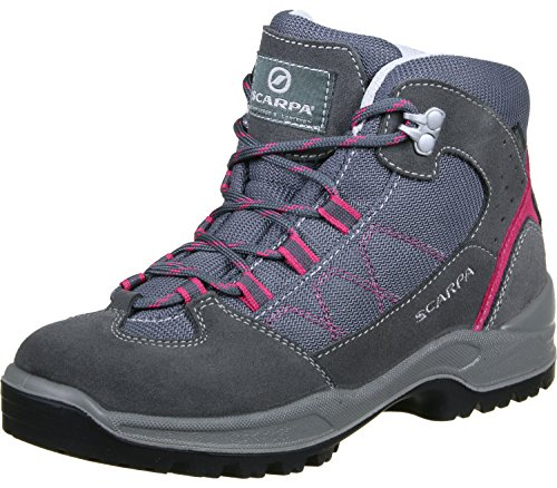 Scarpa Cyclone Kid Kinderwanderschuhe smoke/passion pink