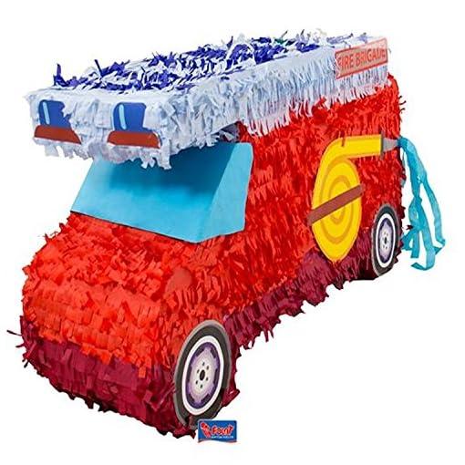 Topfschlagen-aus-Amerika-Pinata-FEUERWEHR-wird-mit-Sssigkeiten-oder-Spielen-gefllt-ca18-x-52-x-30-cm-Piata-Mexiko-Feuerwehrmann-Kinder-Geburtstag-Kindergeburtstag-Spiele-Spass