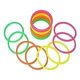 RETON 20 PCS Anelli di Lancio in plastica Multicolor per Giochi di Pratica di velocità e agilità (15cm)