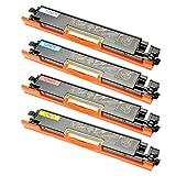 4 Toner für Canon 729 I-Sensys LBP 7000 Series 7010 C 7018 C Lasershot LBP 7000 Series - 4367B002-4370B002 - Schwarz 1200 Seiten, Color je 1000 Seiten