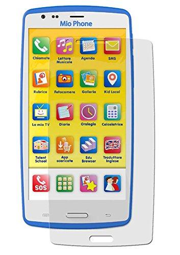 Lisciani Giochi Mio Phone (2017) - 1x Anti-Shock Bildschirmschutzfolie - seidenmatte-Antifingerprint Schutz Folie - entspiegelte Oberfläche - Antireflex