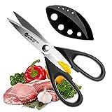 Set forbici da cucina–forbici multiuso con lame verzahnten durevoli, Forbici per il taglio, Acciaio Inox, Adatto per l' osso pollo, pesce, carne, verdure, erbe, Affilato come un coltello