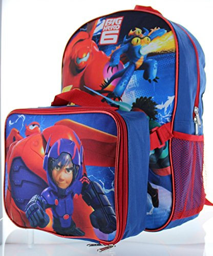 Big Hero 6 15 Backpack with Lunch Bag - Hiro and Baymax