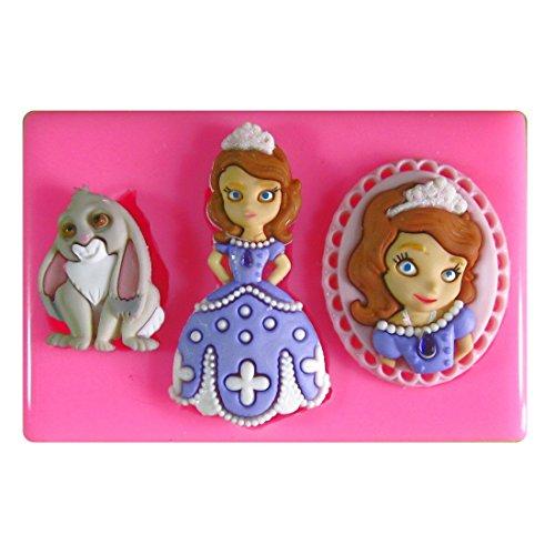 Prinzessin Sofia SilikonForm für Kuchen Dekorieren, Kuchen, kleiner Kuchen Toppers, Zuckerglasur, Fondantform, Sugarcraft Werkzeug durch Fairie Blessings