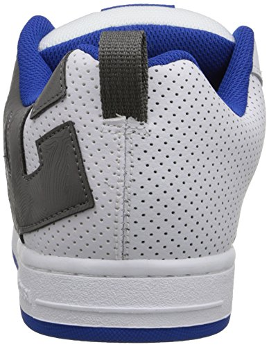 DC Shoes Court Graffik, Chaussures de skate homme Blanc/bleu/gris