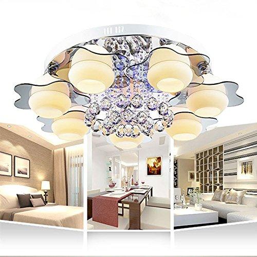 Preisvergleich Produktbild Kristalllampe minimalistische Wohnzimmer Lichter LED-Deckenkreisschlafzimmerstudie Lampe 7 Gre 800 * 400 Ferngesteuerte Schalter E27 Lampenfassung