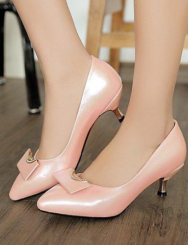 Shangyi Gyht Shoes Femme - Chaussures À Talons Hauts - Loisirs / Travail Et Détente / Soirées Et Soirées - Talons Hauts / Bout Pointu / Bottes - Bas - Similicuir - Blanc