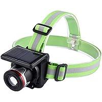 lokep batteria solare LED torcia, multifunzionale luce fari 3modalità per lettura Corsa Esterna Backpacking Campeggio Pesca Caccia Arrampicata Walking Jogging Ciclismo