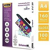 Fellowes 5306114 Pochettes de plastification 80 microns - Format A4 - Pack de 100 pochettes - Technologie ImageLast