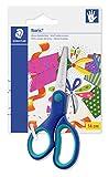 Staedtler ciseaux gaucher pour enfants (Noris Club, grip doux et ergonomique, bout rond, pour découpage haute qualité, longueur 14 cm), 965 14LNBK