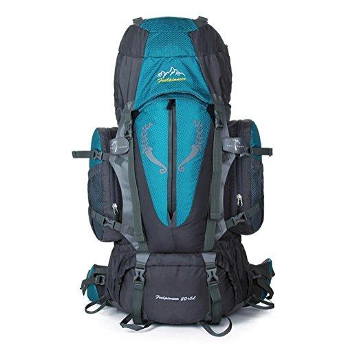 SZH&BEIB Wanderrucksack Extra Large Kapazität 85L für Outdoor-Reisen Bergsteigen Tasche wasserdicht Nylon E