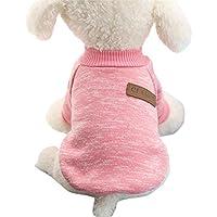 Minkoll chaqueta para perro chaqueta, chihuahua Yorkie pequeña mascota perro suave cálido forro polar abrigo (rosa, XS)