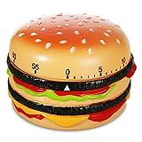 Kurzzeitwecker Kunststoff Burger Hamburger Cheesburger Kurzzeit Wecker Eieruhr 8 cm