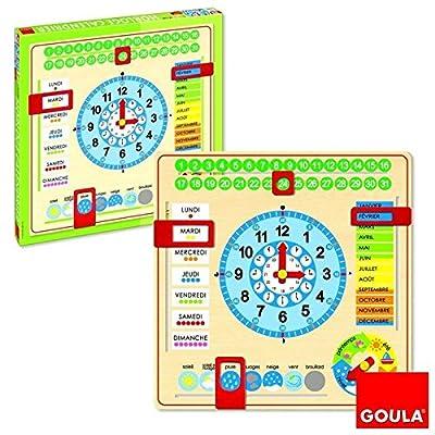 Goula - Reloj y calendario en francés, material educativo (Diset 51308) por Goula