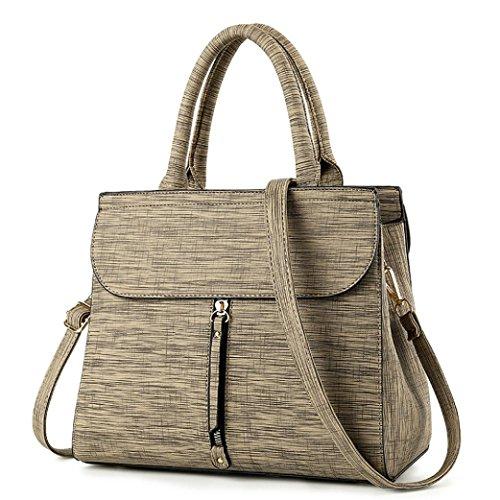 Italily donne borsa a tracolla parti messenger bag attività commerciale borsa a tracolla morbido borsetta borse cartella tote bag borsa grande maniglia superiore cartella (cachi)