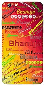 Bhanuja (Popular Girl Name) Name & Sign Printed All over customize & Personalized!! Protective back cover for your Smart Phone : Google Nexus-6