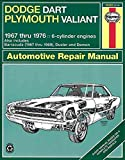 [(Dodge Dart and Plymouth Valiant Plus Challenger and Barracuda Six Cylinder Engines 1967-76 Owner's Workshop Manual)] [By (author) J. H. Haynes ] published on (September, 1988)