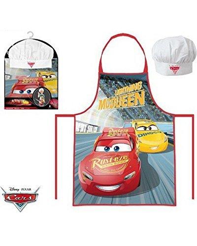 Cars Disney – Set da cucina per bambini, Grembiule e cappello cuoco de 3 a 8 anni