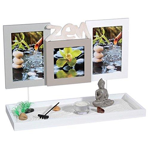 2 en 1 Jardín Zen con 3 marcos de fotos